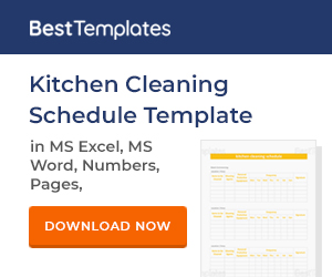 Commercial Kitchen Cleaning Schedule Chefs Resources