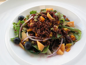 Autumn Harvest Salad with Red Quinoa