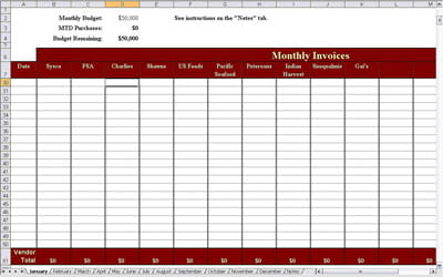 Monthly Budget Form | New Calendar Template Site