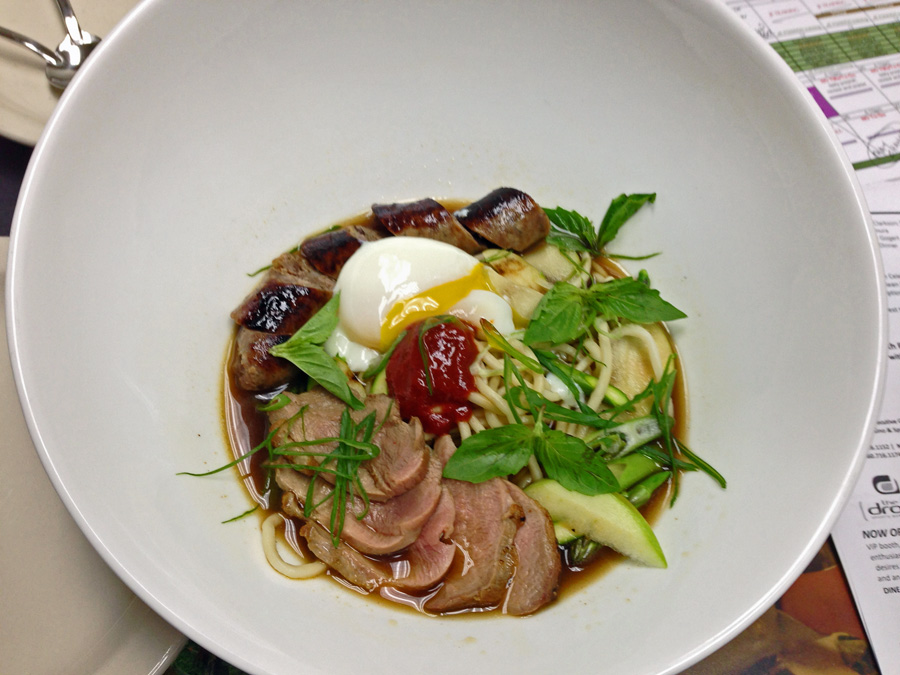 pacific northwest duck pho with duck breast duck confit wild boar ...