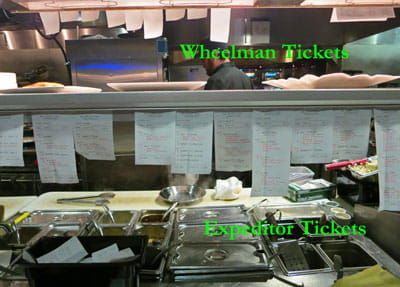 Expeditor and Wheelman kitchen operation