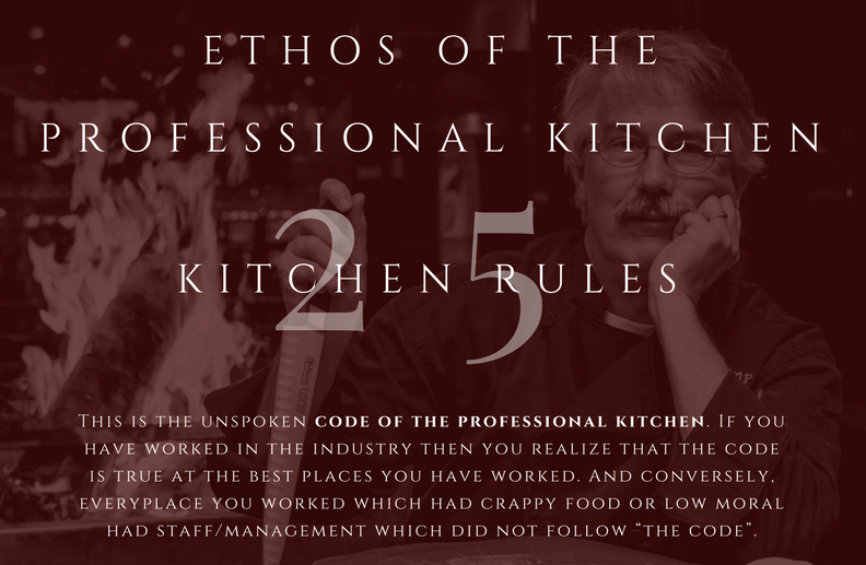25 Professional Kitchen Rules Infographic