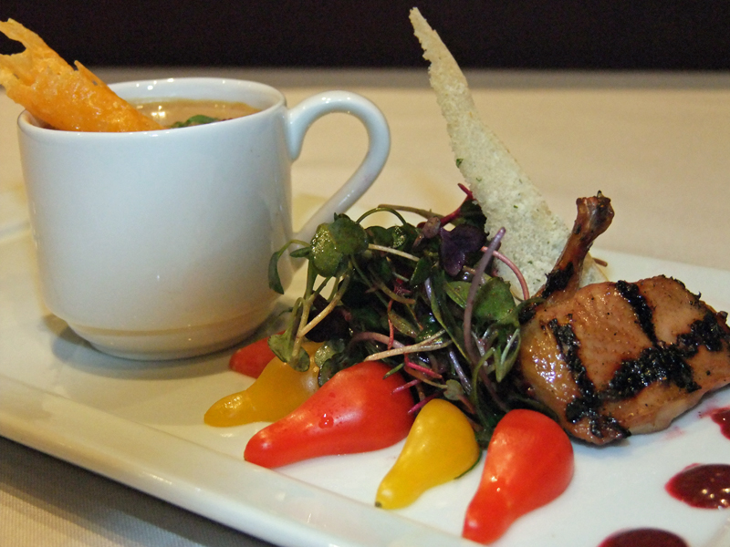 Quail Salad and Soup Taste of Tulalip 2010