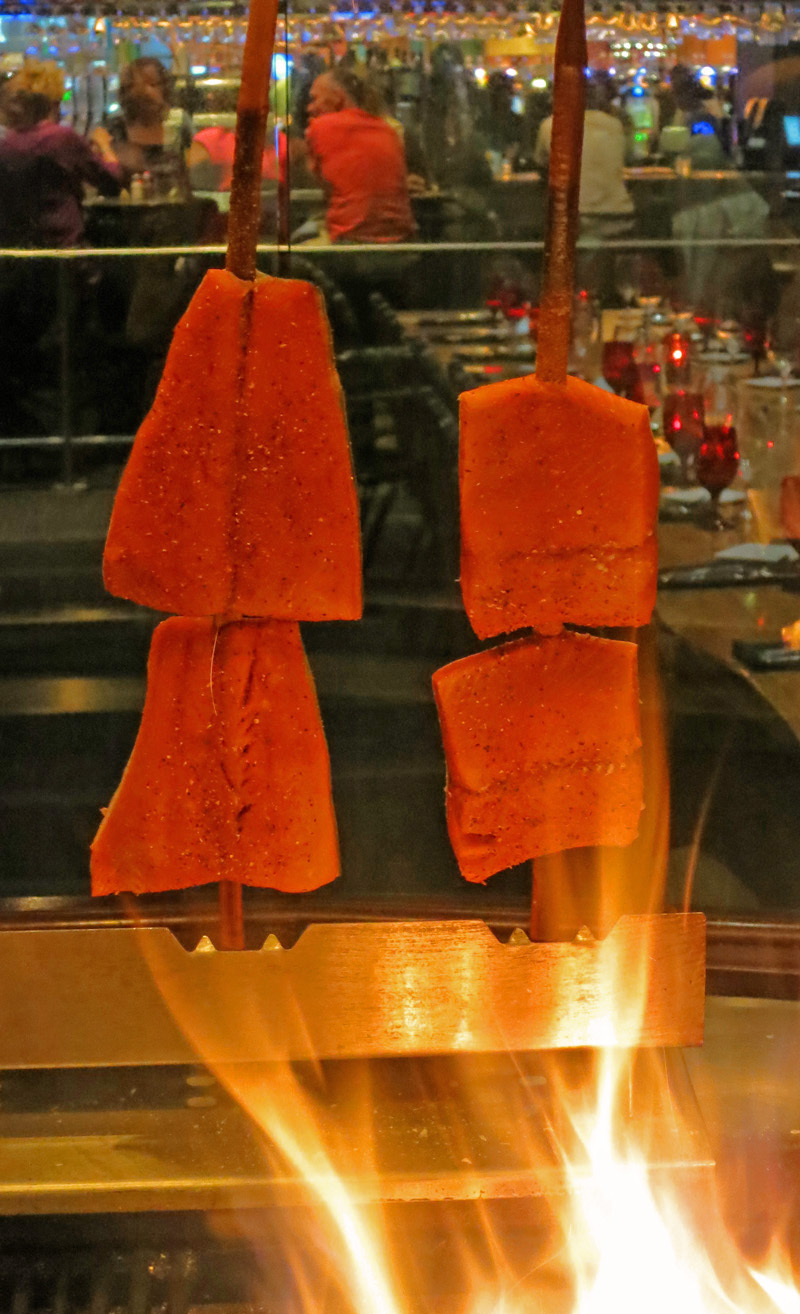 Salmon on a Stick at Blackfish