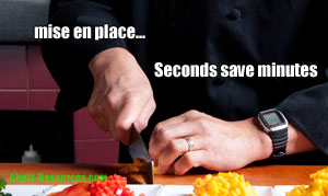Event Planning - Seconds Save Minutes