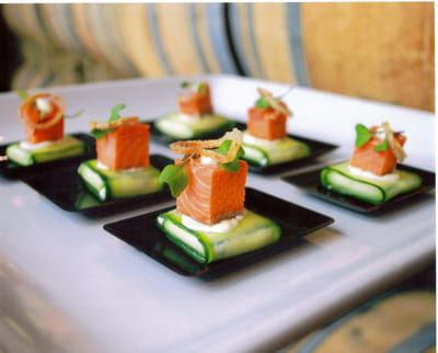 Smoked Salmon over Chevre' Cucumber Package