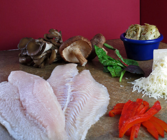 Raw Swai Fish ingredients for a recipe