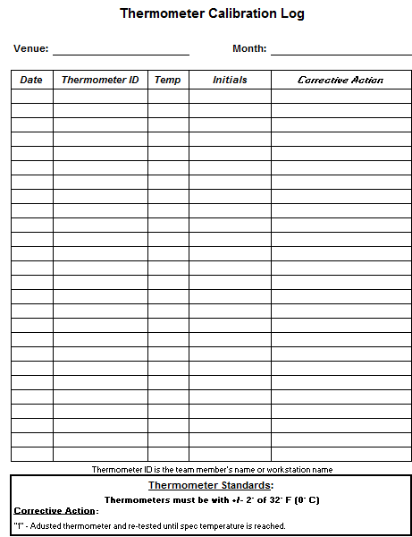 Trust image intended for printable food temperature log