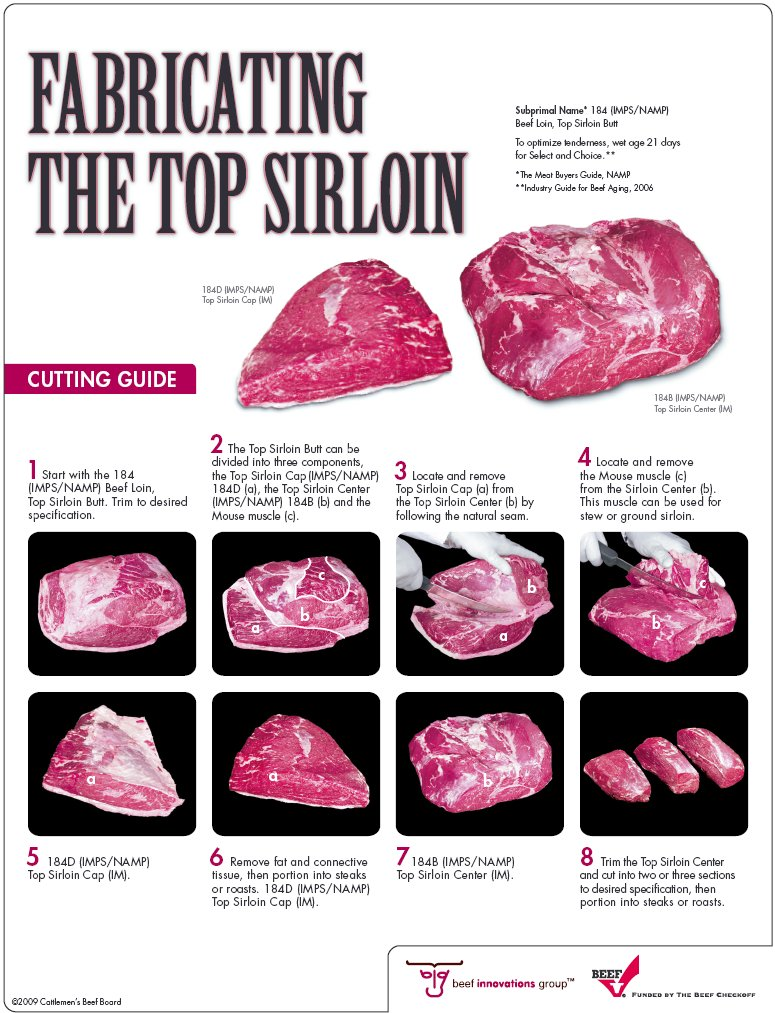Top Sirloin Fabrication - by Cattleman's Beef Board