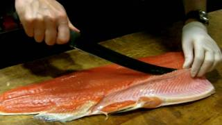 How to trim Salmon Fillets