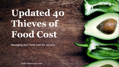 Forty Thieves of Food Cost